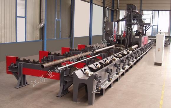 钢管抛丸机主要工作原理和结构组成