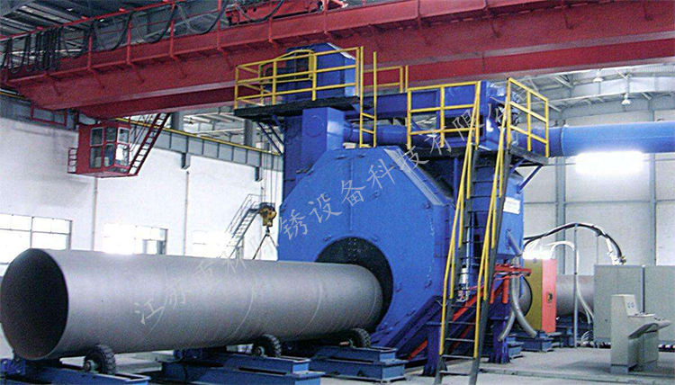 钢管外壁抛丸机的工作原理